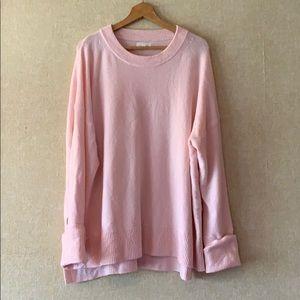 Lou & Grey Light Pink Tunic Length Sweater XL